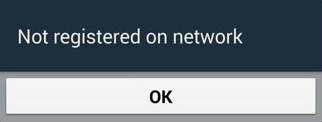 Fix Not Registered on Network