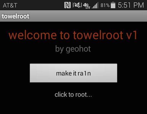 Towelroot rooting