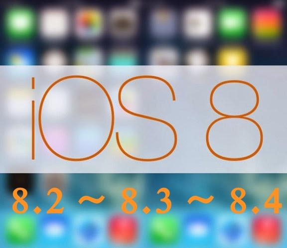iOS 8.2, 8.3, 8.4 Update